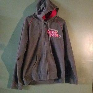 Hooded zipper sweatshirt with pockets